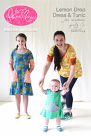 Lemon Drop Dress for Women Girls and Toddlers Pattern