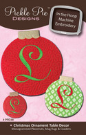 Christmas Ornament Table Decor - In the Hoop Embroidery with CD