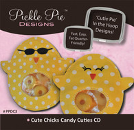 Cute Chicks Candy Cuties In the Hoop Machine Embroidery Designs with CD