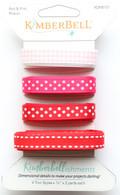 Kimberbellishments Red and Pink Ribbon Set