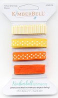 Kimberbellishments Yellow and Orange Ribbon Set