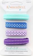 Kimberbellishments Blue and Purple Ribbon Set