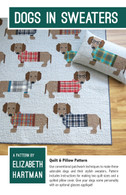 Dogs in Sweaters Quilt and Pillow Pattern