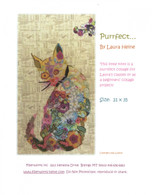 Purrfect Cat Collage Fused Applique Pattern