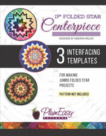 17 inch Folded Star Centerpiece Template 3-pack