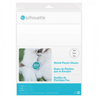 Shrink Plastic Sheets White 8.5in x 11in 6/pkg