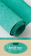 krafttex Kraft Paper Fabric Roll 18.5in x 28.5in Roll Blue Turquoise