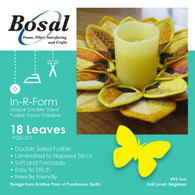 Bosal In-R-Form for Sunflower Petals Wreath - Leaf Shapes Single Sided Fusible Foam Interfacing 18/pkg