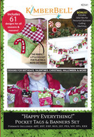 Happy Everything! Pocket Tags & Banners Set Machine Embroidery CD