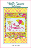 Hello Summer Wall Hanging Embroidery Design CD