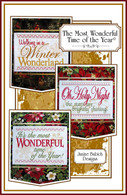 The Most Wonderful Time of the Year Wall Hangings Embroidery Design CD