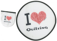 I Love Quilting Foldable Hand Fan