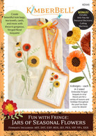 Fun with Fringe: Jars of Seasonal Flowers Machine Embroidery CD