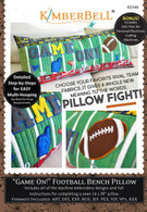 Game On Football Bench Bench Pillow Machine Embroidery CD