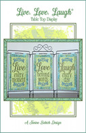 Live Love Laugh Table Top Display Machine Embroidery Design CD