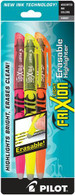Frixion Erasable Highlighter 3 Pen Set - Pink/Orange/Yellow