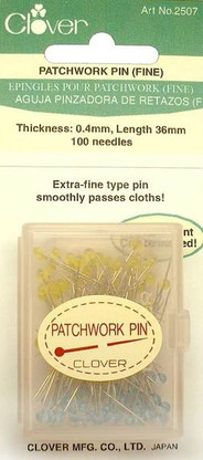 Patchwork Glasshead Pin Size 30 - 1 1/2in 100ct