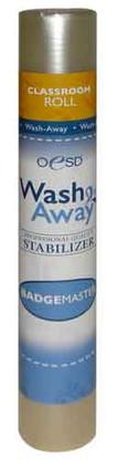 BadgeMaster Wash Away Stabilizer 12in x 3yd