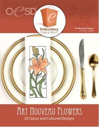 Art Nouveau Flowers CD