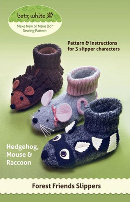 Forest Friends Slipper Pattern