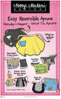 Easy Reversible Aprons - Waist Tie