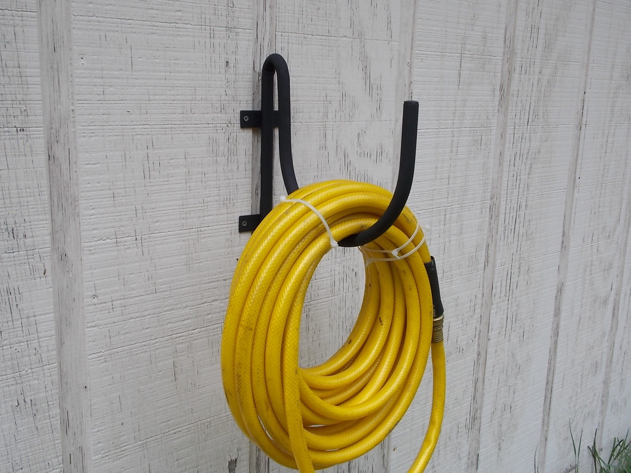 Wall Mount Garden Hose Holder Black Wrought Iron By The Lazy Scroll.  Loading Zoom
