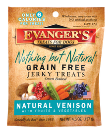 Evanger's Nothing But Natural Venison with Fruits and Vegetables Jerky Dog Treats