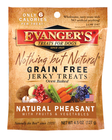 Evanger's Nothing But Natural Pheasant, Fruit & Vegetable Jerky Dog Treat