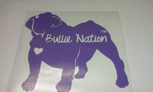 Bullie Nation Car Decal- Lavender