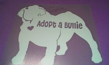 Bullie Nation Car Decal- Adopt A Bullie