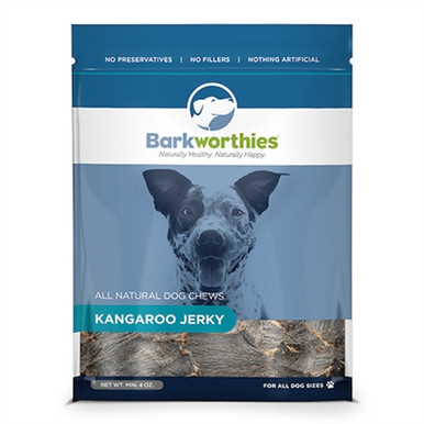 Barkworthies Kangaroo Jerky 4oz Carolina Pet Pantry