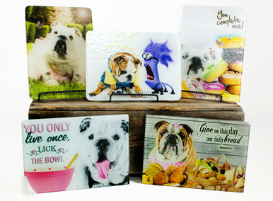 Mi Bellamore Cutting Board Bulldog in tutu Carolina Pet Pantry