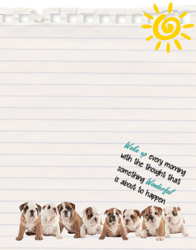 Mi Bellamore Row of Puppies dry erase board Carolina Pet Pantry