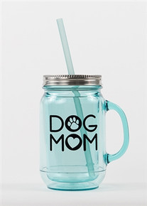Dog Mom Acrylic Mason Jar Mug