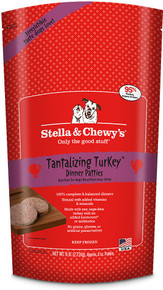 Stella & Chewy's Tantalizing Turkey Dinner Patties Raw Frozen Dog Food