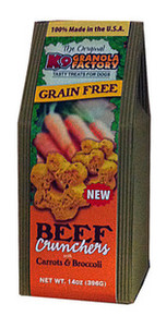 K9 Granola Factory Grain Free Dried Beef Crunchers w/ Pumpkin & Broccoli 12oz
