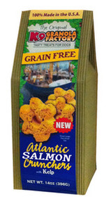 K9 Granola Factory Grain Free Atlantic Salmon Crunchers w/ Coconut & Kelp 12oz