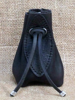 Small handmade leather pouch.