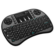Genuine Rii I8+ 2.4G Wireless Rechargeable Keyboard/Touch Mouse for Smart TV, TV Box,PC with Multi-touch up to 15 Meter Range- Black