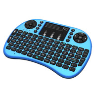 Genuine Rii I8+ 2.4G Wireless Rechargeable Keyboard/Touch Mouse for Smart TV, TV Box,PC with Multi-touch up to 15 Meter Range- Blue