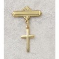 Gold Plated Sterling Silver Cross Baby Pin
