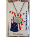 NATIONAL GUARD MEDAL W/PRAYER CARD