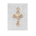 """Gold Plated Sterling Silver Crucifix with 13"""" Chain & Box"""