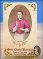 St Charles Borromeo (Stomach Ailments) Healing Holy Card with Medal