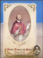 St Francis de Sales (Hearing Loss) Healing Holy Card with Medal