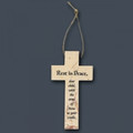 Jerusalem Stone Baby Bereavement Cross