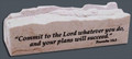 Jerusalem Stone Proverbs 16:3 Business cardholder