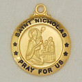 St. Nicholas - Gold Plated Sterling Silver