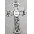 Pewter Baby Girl Cross 6""