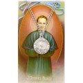 St. John Bosco Pewter Medal and Holy Card